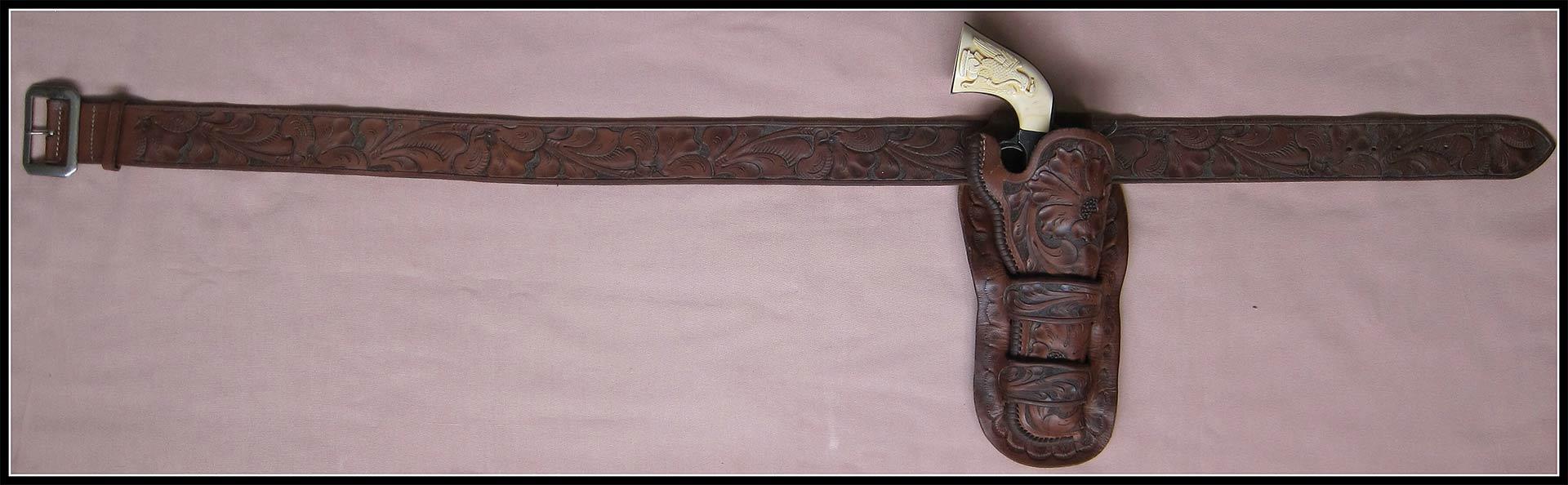 Vintage Lawrence Rig Marked Holster and Belt
