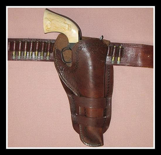 Western Holster and Belt Rig with Colt 4 3/4""