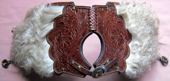 Angora Pommel Bags - Hand Tooled