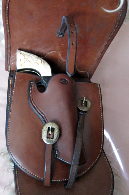 Angora Pommel Bags - Holster fits Colt SAA